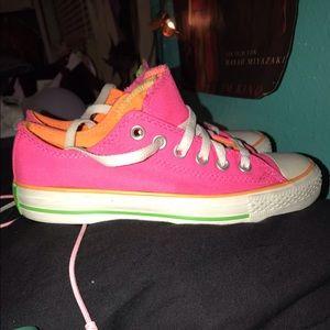 Pink/Orange Converse
